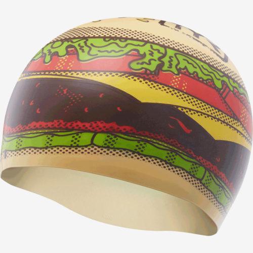 Шапочка для плавания TYR Hamburger Silicone Swim Cap